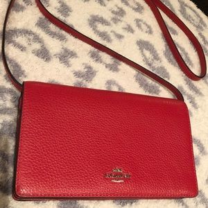 Original Coach leather red wallet